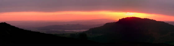 Sunset on the Roaches